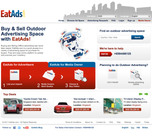 "EatAds homepage upgrade now with ""Top Deals"""