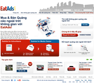 EatAds Vietnam Homepage