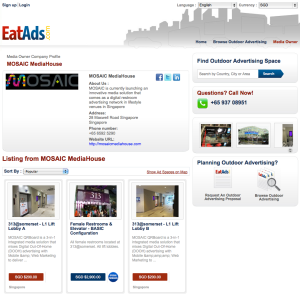EatAds launches OOH media owner pages